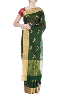 emerald-green-mulberry-silk-sari