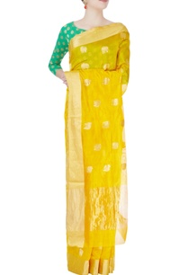 yellow-mulberry-silk-sari