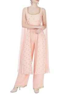 peach-cape-style-kurta-with-pants
