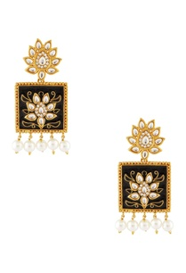 navy-blue-gold-kundan-earrings