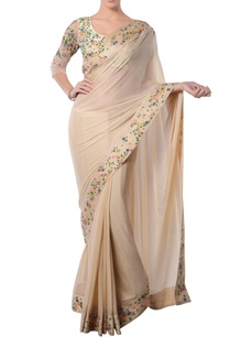 beige-sari-with-embroidery