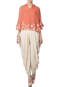 peach-off-white-embroidered-pant-set