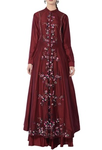 maroon-anarkali-set-with-embroidery