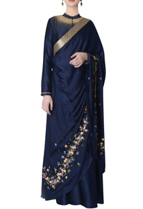 navy-blue-dress-with-embroidered-dupatta