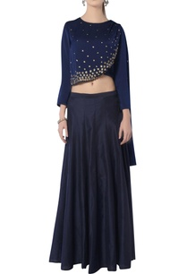 navy-blue-skirt-set-with-floral-embroidery
