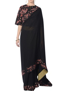 black-embroidered-sari-with-blouse