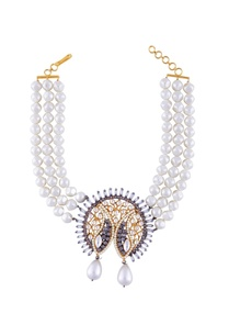 beaded-choker-with-kundan