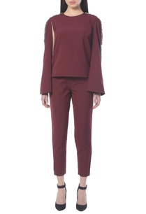 maroon-pant-set-with-embellishments