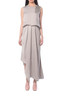 grey-draped-dress-with-embellishments