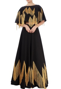 black-lehenga-cropped-top-with-tassels