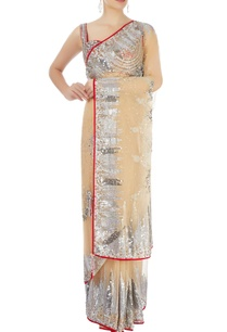 beige-embellished-sari-with-red-blouse