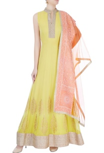 yellow-embroidered-anarkali-with-dupatta