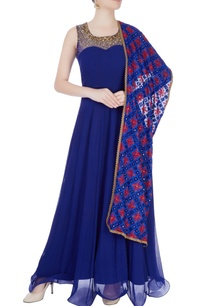 royal-blue-embellished-anarkali-with-dupatta