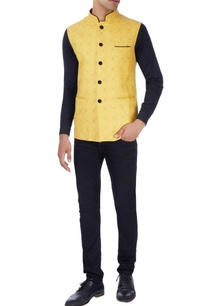 navy-blue-yellow-bandhgala-jacket