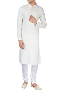 off-white-silk-kurta