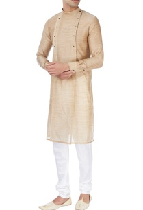 beige-kurta-with-gold-button-details