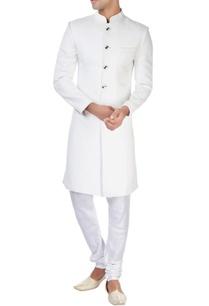 white-ackhan-style-kurta-and-pyjamas