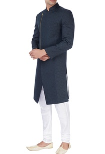 black-ackhan-style-kurta-and-pyjamas