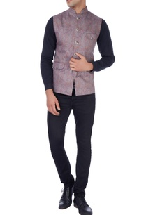 multicolored-paisely-print-nehru-jacket