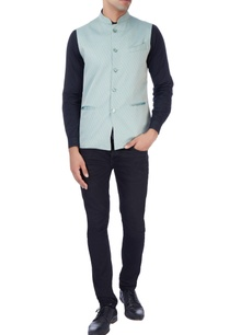 light-blue-geometric-print-nehru-jacket