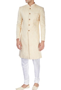 beige-achkan-with-gold-buttons