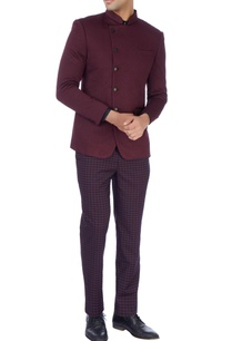 maroon-quilted-bandhgala-jacket