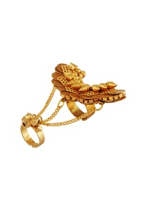 gold-plated-ring-with-draped-chains