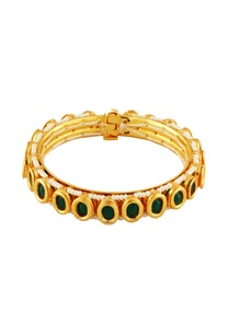 gold-bangle-with-green-stones