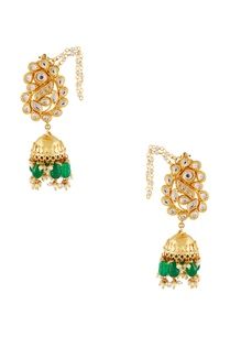 gold-studded-jhumka-earrings