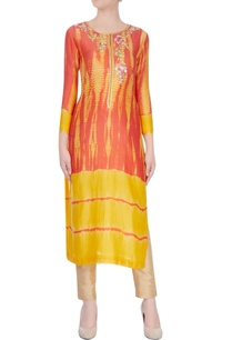 yellow-red-salwar-kurta-with-floral-embroidery