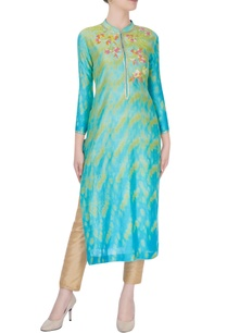 yellow-mint-green-kurta-with-floral-embroidery
