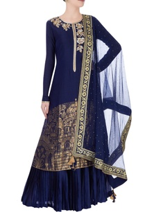 navy-blue-gold-kurta-set-in-ancient-gold-motifs