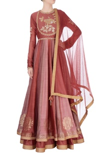 brown-anarkali-suit-in-floral-thread-work