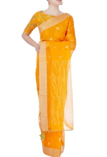 orange-printed-sari-with-blouse
