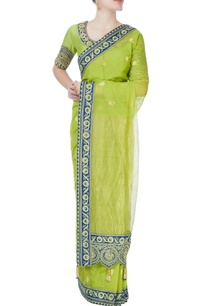 green-blue-ethnic-patterned-sari