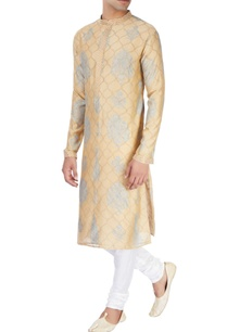 beige-kurta-in-block-print