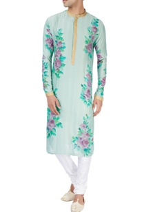 moss-green-kurta-in-floral-design