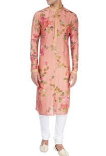 peach-kurta-in-floral-design