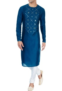 indigo-kurta-in-patra-embroidery