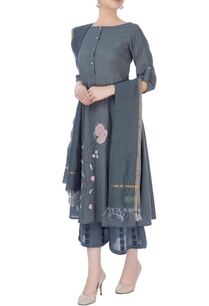 grey-embroidered-kurta-set
