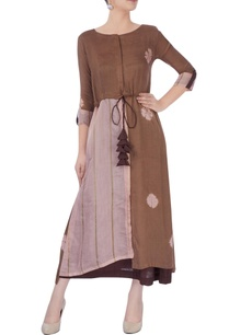 brown-slip-dress-with-patch-work-tunic