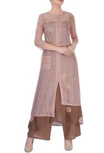 brown-pink-kurta-set