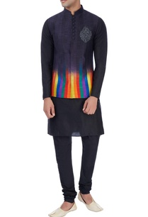 charcoal-nehru-jacket-with-kurta-trousers