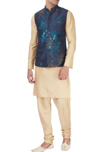 blue-nehru-jacket-white-pyjamas