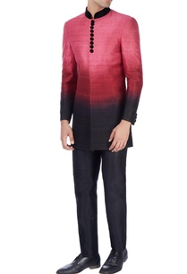 pink-ombre-sherwani-with-black-trousers