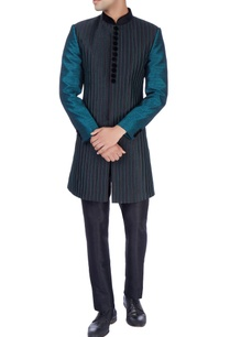 black-green-sherwani-trousers