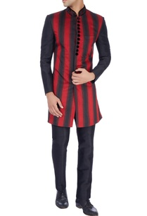red-black-nehru-jacket-trousers