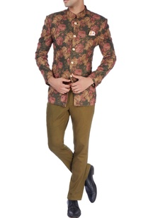 multi-colored-floral-bandhgala-trousers