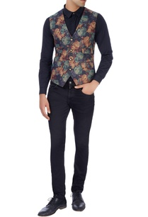 multi-colored-floral-printed-waistcoat