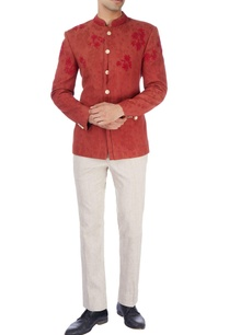 maroon-embroidered-jacket-trousers